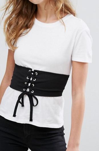 Pull&Bear Corset Detail T-Shirt