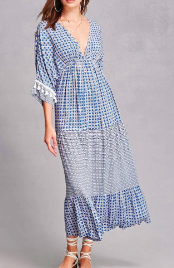 Forever 21 Geo Print Maxi Dress