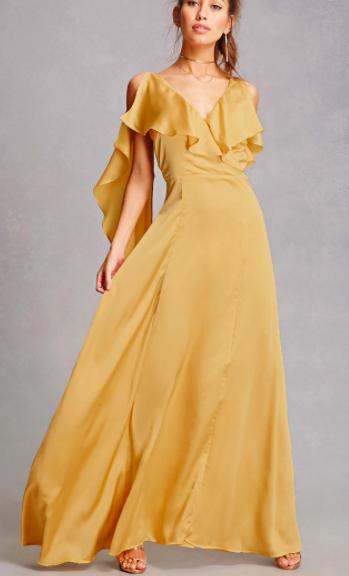 FP True Violet Satin Maxi Dress