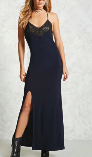 Forever 21 Lace-Insert Maxi Dress
