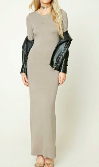 Forever 21 Knit Maxi Bodycon Dress