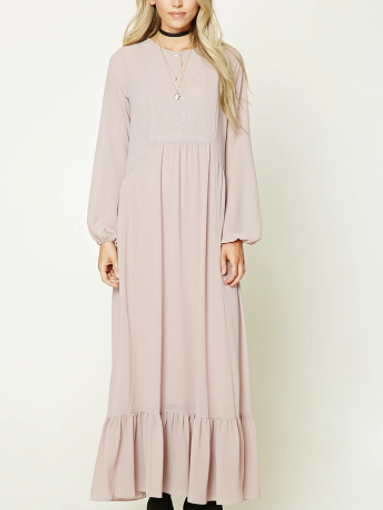 Forever 21 Oversized Peasant Maxi Dress