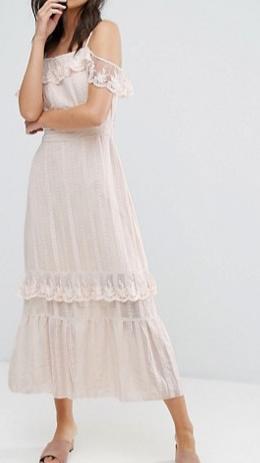 Vero Moda Cold Shoulder Maxi Dress