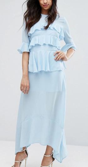 PrettyLittleThing Frill Detail Maxi Dress