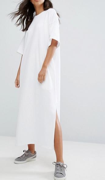 Puma T-Shirt Maxi Dress In White