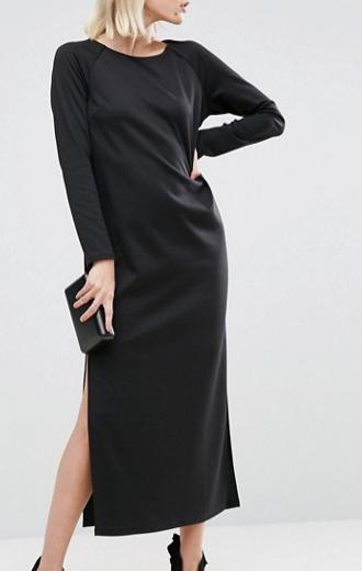 ASOS Plunge Back Maxi Dress