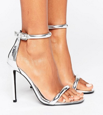 Missguided Barely There Ankle Strap Heeled Sandals