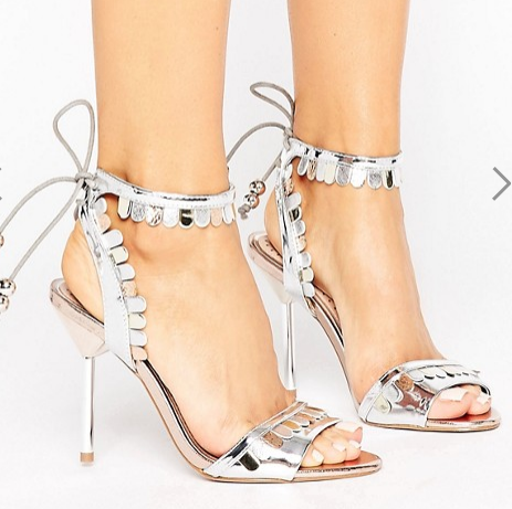 Miss KG Freya Metallic Tie Heeled Sandals