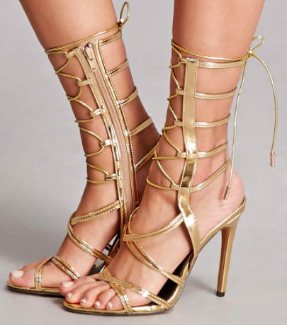 Forever 21 Patent Leather Gladiator Heels