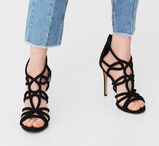 mango Strappy heeled sandals