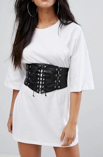 Glamorous T-Shirt Dress With Corset Waist