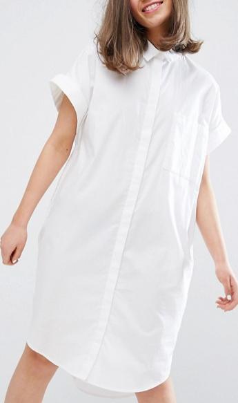 Monki Short Sleeved Shirt Dress