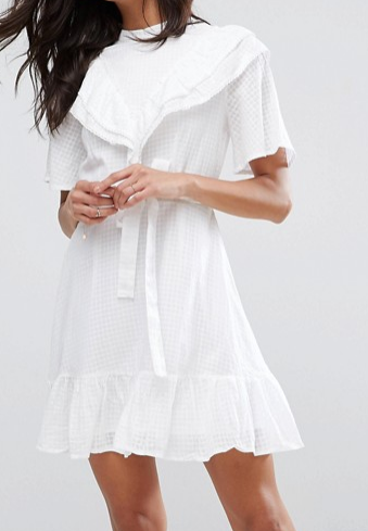 ASOS Prairie Mini Dress With Open Back