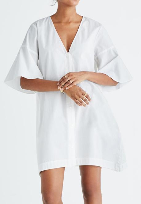 Madewell Bell-Sleeve Shirtdress