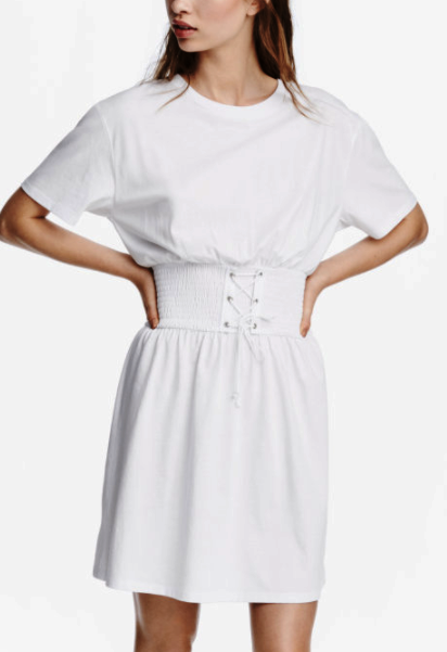 HM T-shirt Dress with Lacing
