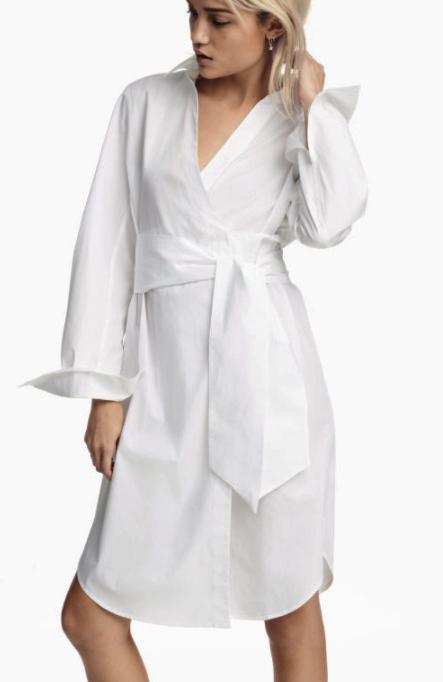 HM Cotton Wrap Dress
