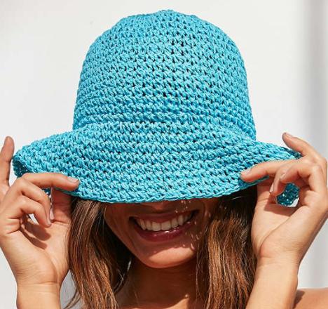 UO Straw Bucket Hat