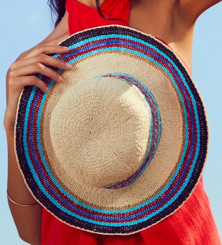 FP Salt Water Stripe Straw Hat