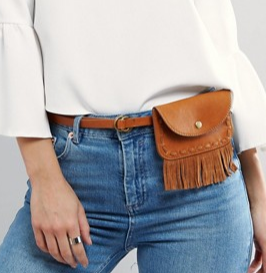 Pieces Fringed Fanny Pack Belt