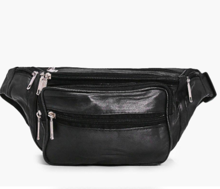 Boohoo Lucia Zip Pocket Front Leather Bumbag