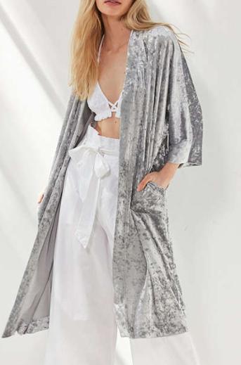 UO Crushed Velvet Kimono