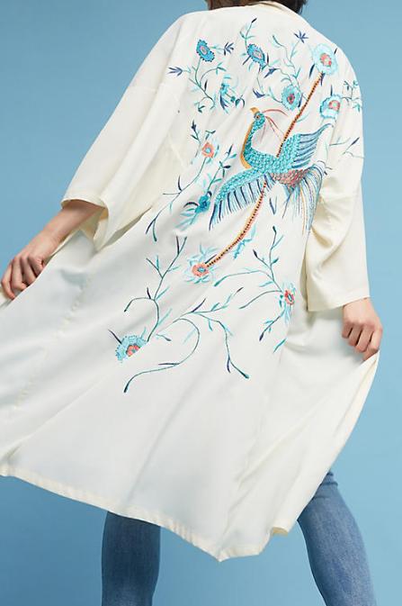 Anthropologie Bird of Paradise Kimono