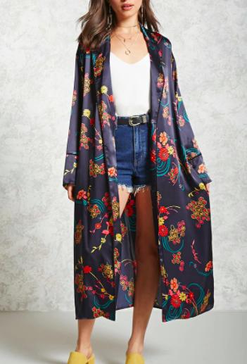 Forever 21 Contemporary Abstract Kimono