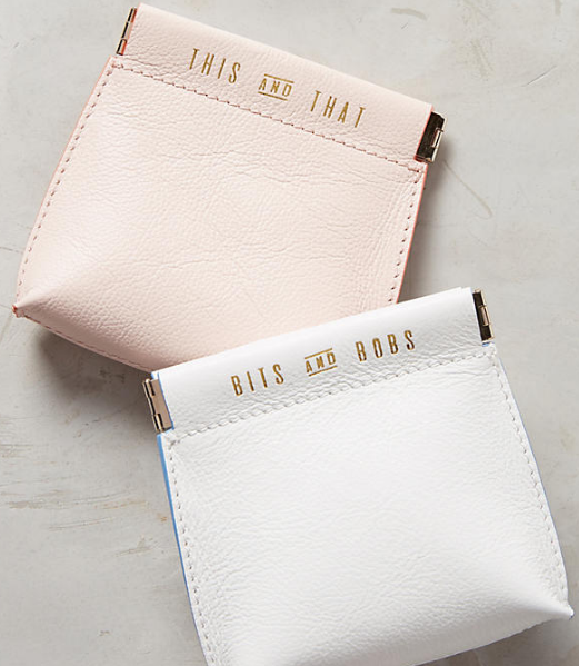 Anthropologie Jet Set Mini Pouch