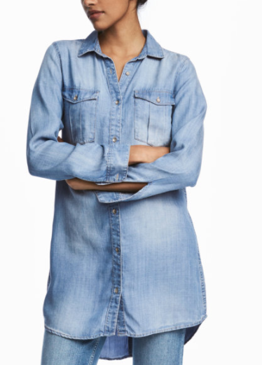 HM Long Denim Shirt
