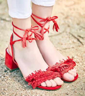 Sera Wraparound Fringe Sandal SOLE SOCIETY