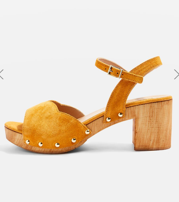 Topshop VALENTINE Sweetheart Suede Sandals