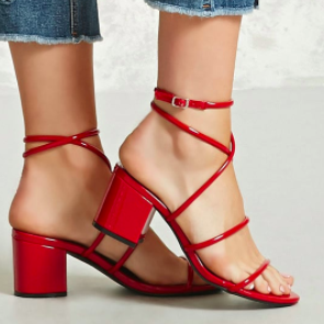 Forever 21 Faux Patent Block Heels