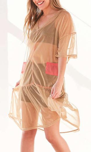 Without Walls Zia Mesh Parachute Midi Dress