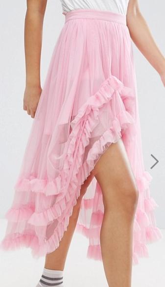 ASOS Deconstructed Sheer Tulle Prom Skirt