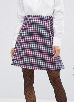 Sonia By Sonia Rykiel Small Check Skirt