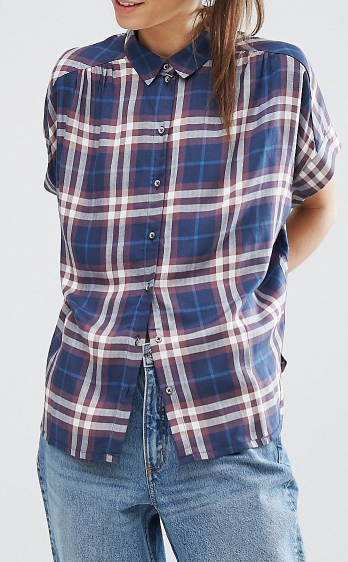 Only Batwing Check Shirt