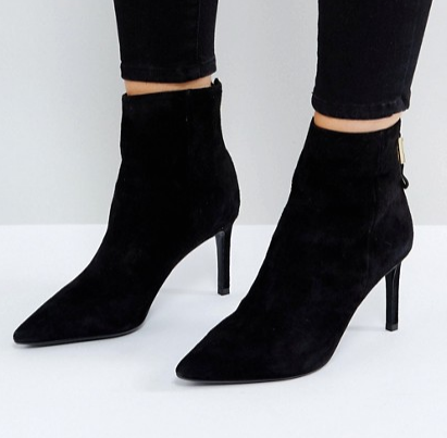 Dune Oralia Suede Pointed Heeled Boots