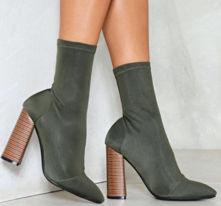 NAsty Gal Sit Tight Sock Boot