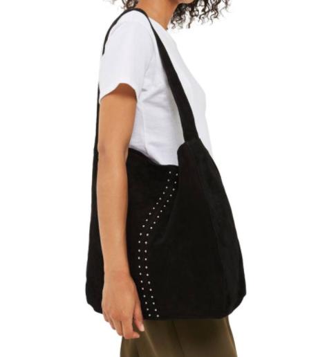 Sienna Studded Leather Hobo TOPSHOP