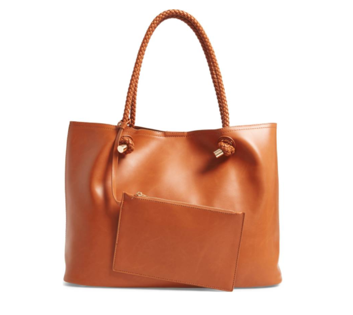 Shaynelee Faux Leather Tote SOLE SOCIETY