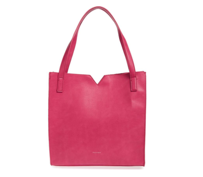 Alicia Faux Leather Tote Bag & Pouch Set PIXIE MOOD