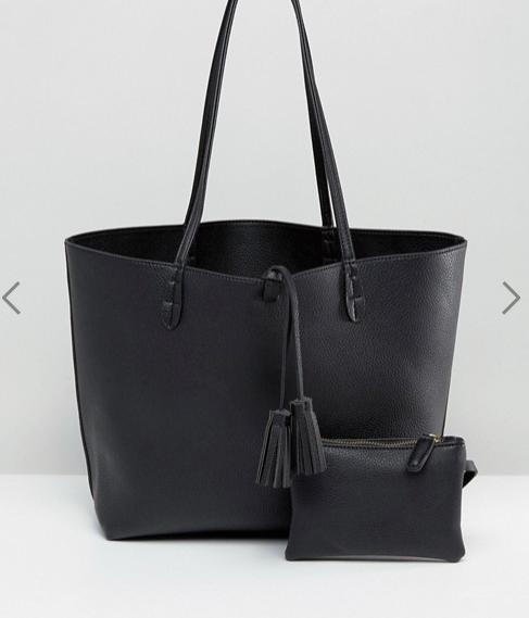 Street Level East West Tote Bag in Black