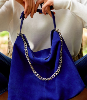 Mango Leather hobo bag