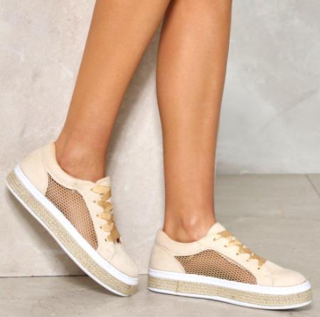 Nasty Gal Safe Side Mesh Sneaker