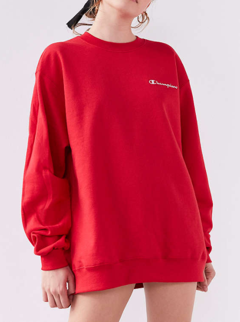 Champion + UO Mini Logo Crew-Neck Sweatshirt