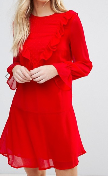 Y.A.S Riku Long Sleeve Ruffle DressY.A.S Riku Long Sleeve Ruffle Dress