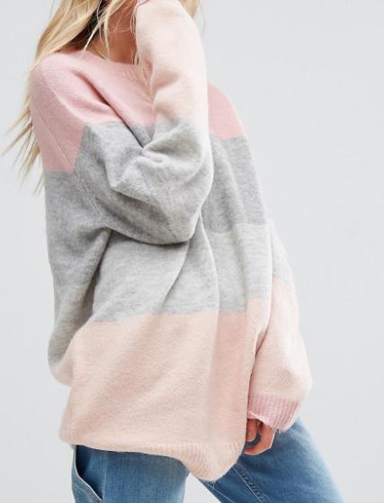 ASOS Sweater in Block Stripe