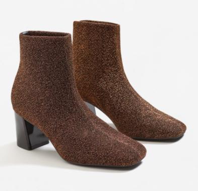 Mango Glitter sock boots