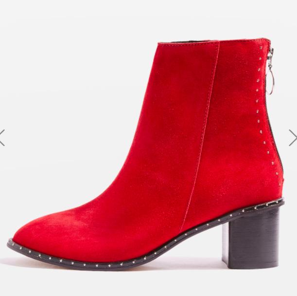 Topshop MIRANDA Studded Sock Boots