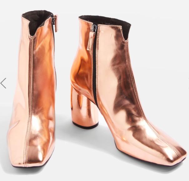 Topshop HOBBS Banana Heel Boots